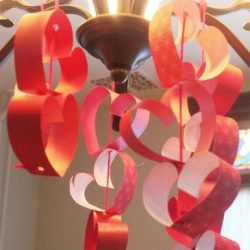 Heart Chandelier - 1 of the 21 Valentine Crafts for Preschoolers