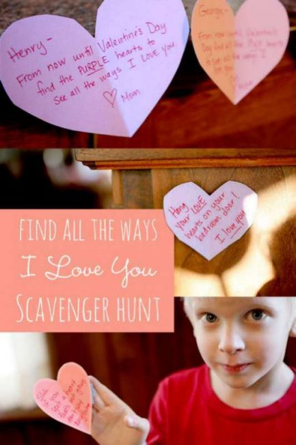 A Valentine's scavenger hunt to find all the ways I Love You
