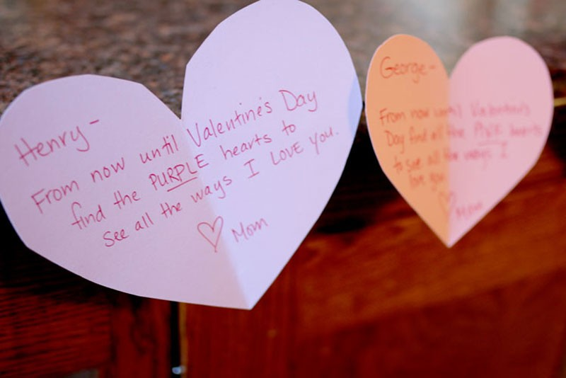 valentine's scavenger hunt to find the ways i love you, Ideas