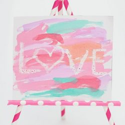 Crayon resist love craft from Simple As That - 1 of 20 LOVE crafts