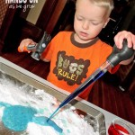 Baking Soda and Vinegar Experiment with Color Fun