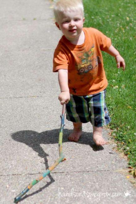 kids walking sticks