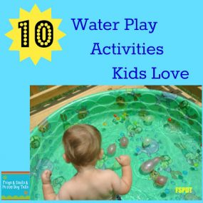 10 Water Play Activities Kids Love from Frogs and Snails and Puppy Dog Tails