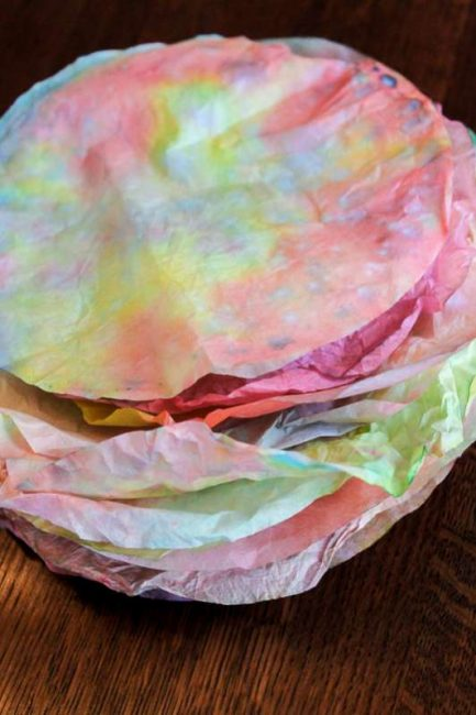 Colored coffee filter flowers for kids to make hands on as we grow dried coffee filters ready for the kids to make into flowers mightylinksfo