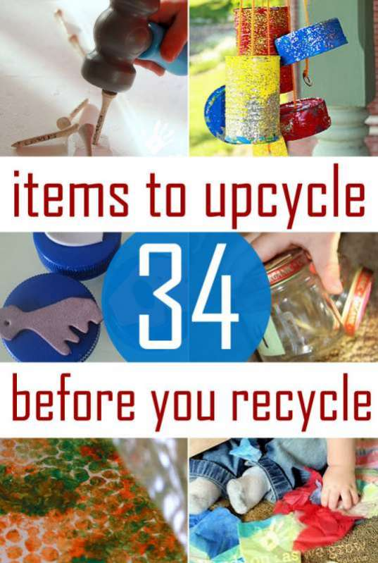 Ideas for recycled kids crafts & activities to reuse what we already recycle