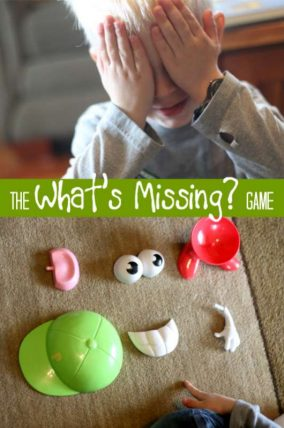 Guess what's missing? A great memory activity for young kids.