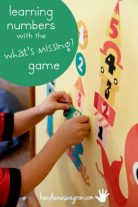 Learning numbers with the 'What's Missing?' game