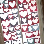 Sticky Heart Collage Window Decoration