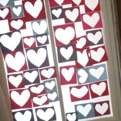 Heart Window Collage - 1 of the 21 Valentine Crafts for Preschoolers