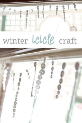 Winter icicles craft for kids to make - cute!