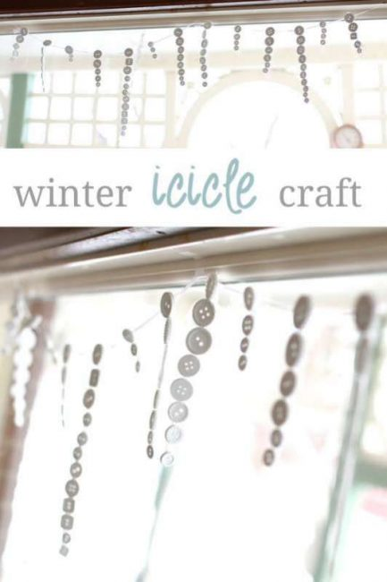Cute icicle craft for the kids to make during the winter