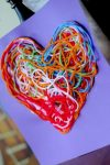 Textured yarn heart to display