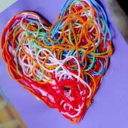 Texture Yarn Heart Valentine Craft - 1 of the 21 Valentine Crafts for Preschoolers