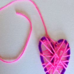 Wrapped Yarn Heart Craft - 1 of the 21 Valentine Crafts for Preschoolers