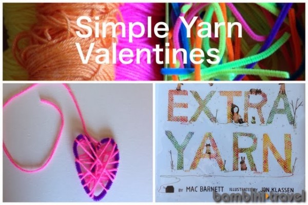 A cute valentine to for little kids to work on - yarn wrapped hearts!